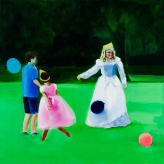 Balloons at Recess Painting by Paulina Swietliczko