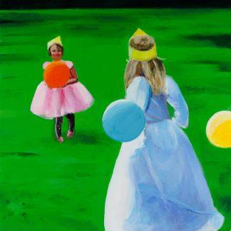 Red Baloon - Painting by Paulina Swietliczko