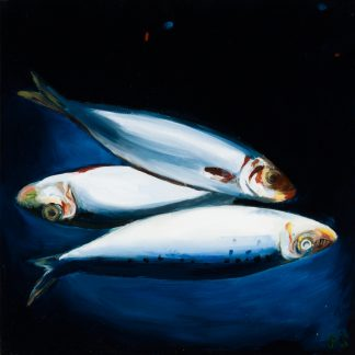 Fish Below - Painting by Paulina Swietliczko