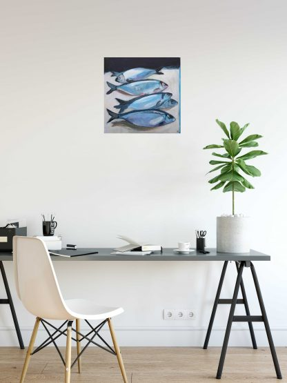 Herring Paintingo on Office Wall