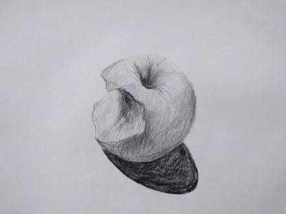 image of hand drawn apple