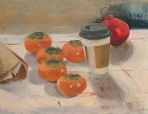Persimmons and Pomegranate